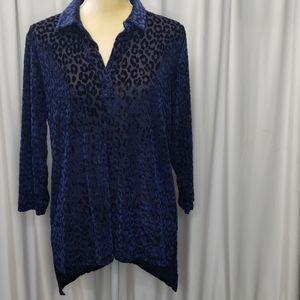 Rebecca Malone pullover blouse size Med